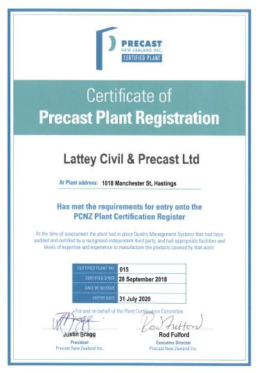 Precast Plant Certification