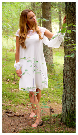 Lengva šifoninė suknelė