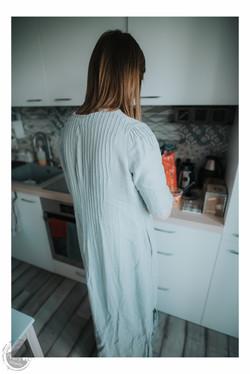 Pilko lino suknelė