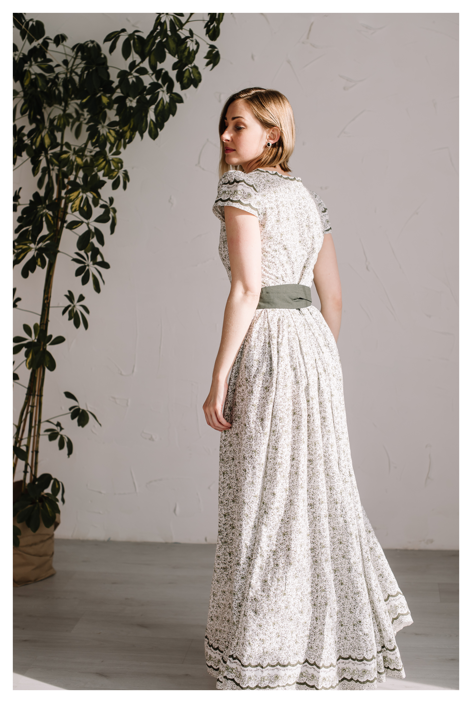 Vasarinė suknelė iš medvilnės