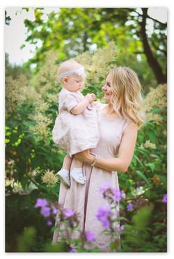 Mamos ir dukros lininės suknelės