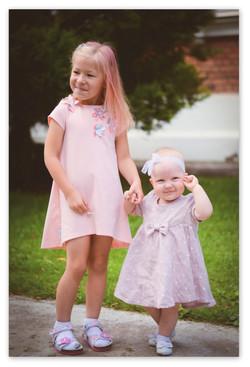 Lininė vaikiška suknelė