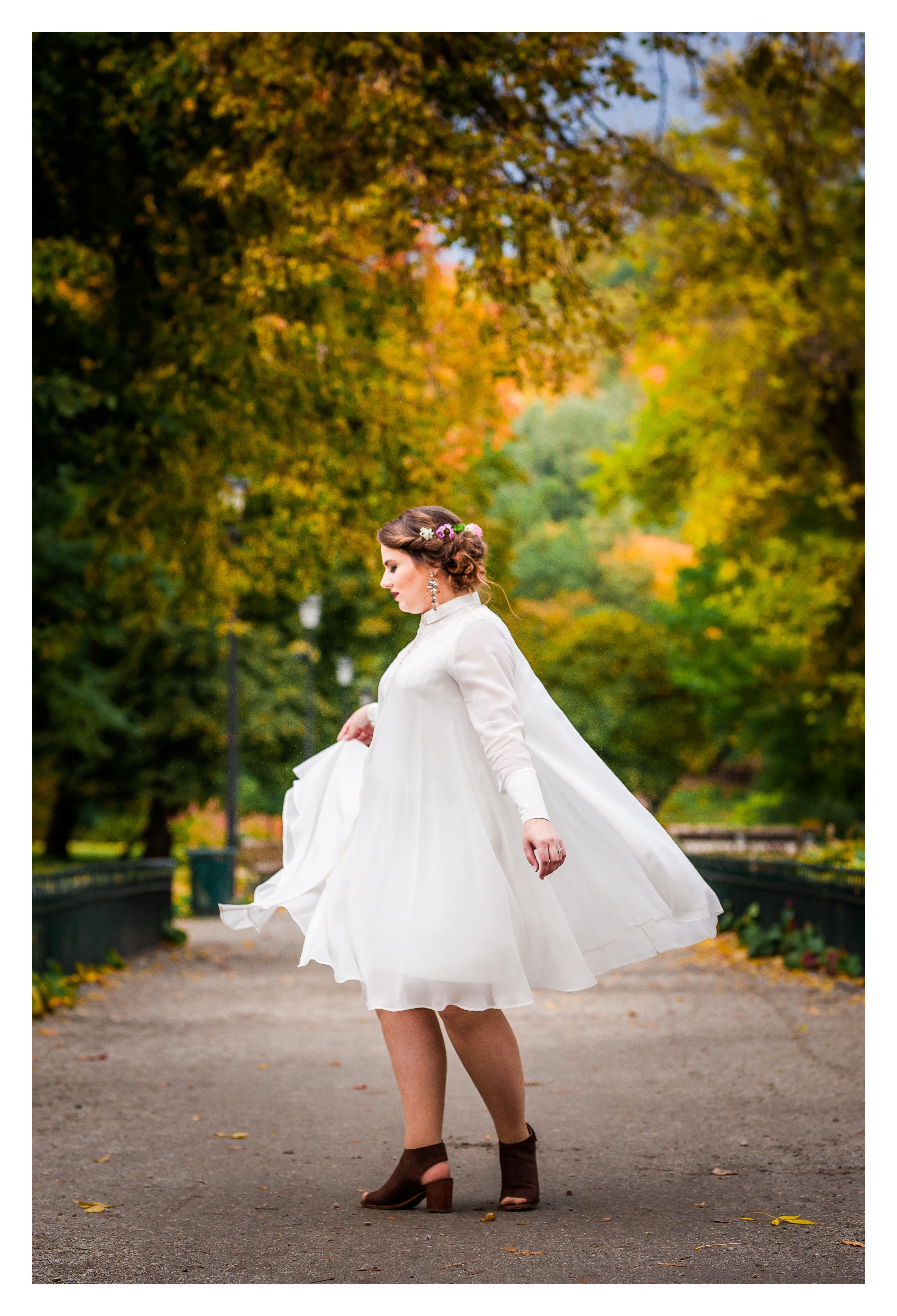 Šifoninė marškinių tipo suknelė