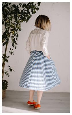Dryžuotas sijonas