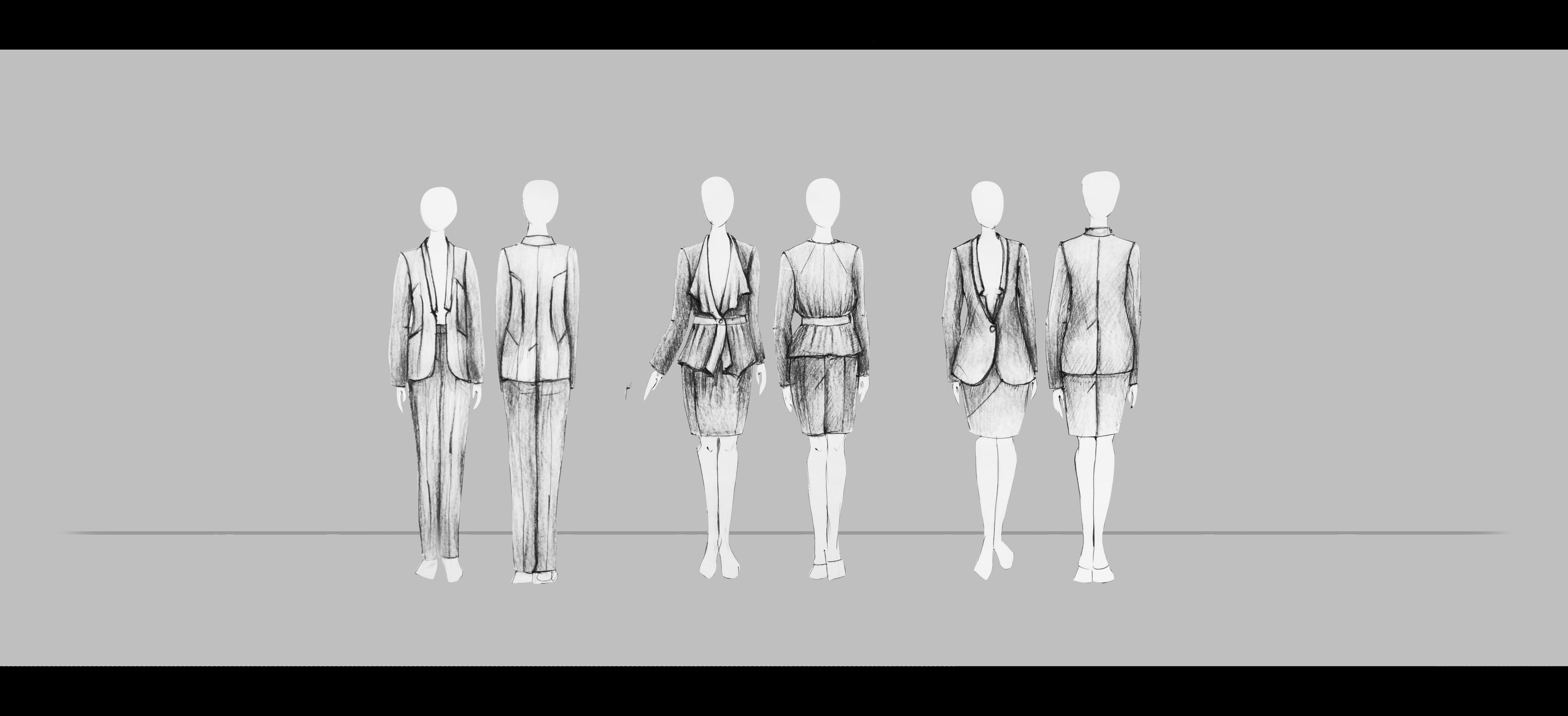 Moteriški kostiumėliai