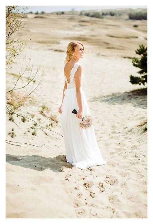 Gipiūrinė suknelė su šifono sijonu