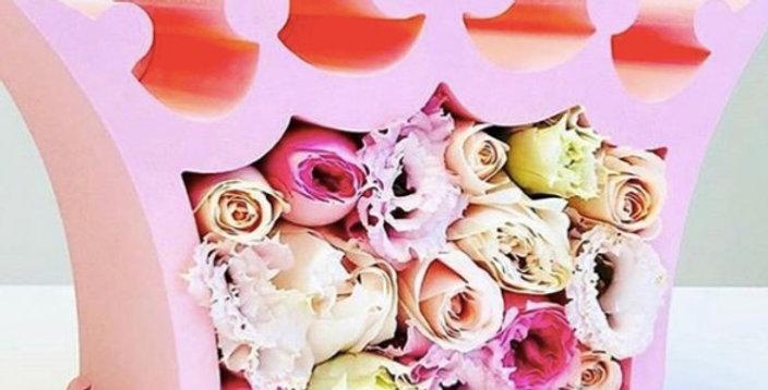 "Dárkový box ""Fairy queen"" s květinamí"