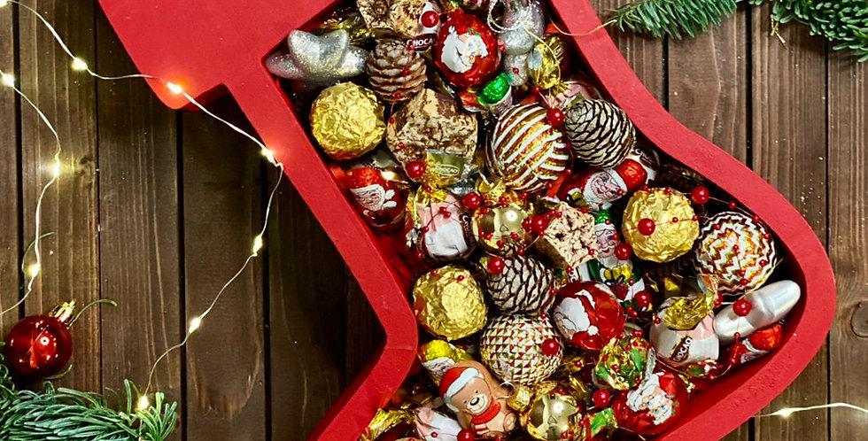 """Vánoční box """"Červená ponožka"""""""