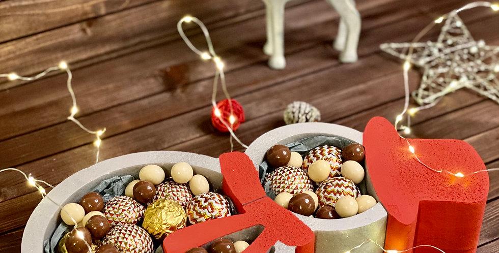 """Vánoční box """"Sněhulák"""""""