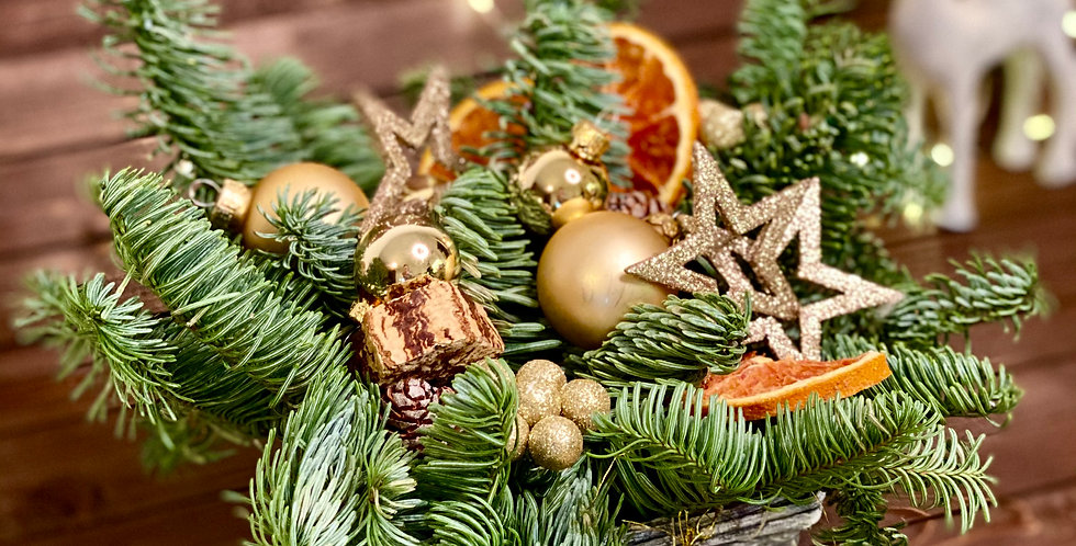 Vánoční kompozice velikosti S s pomerančem