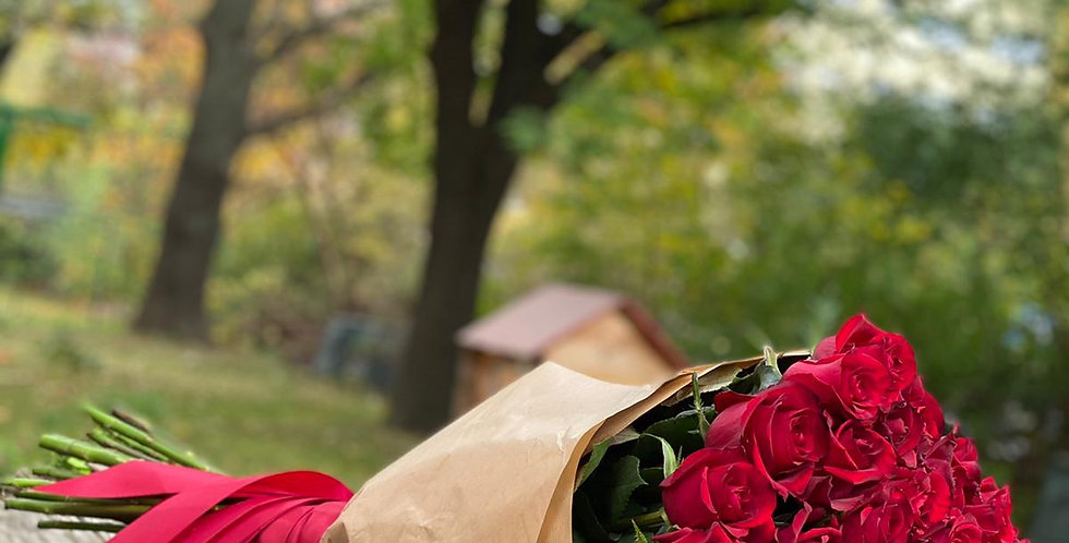 Červené růže 50 ks
