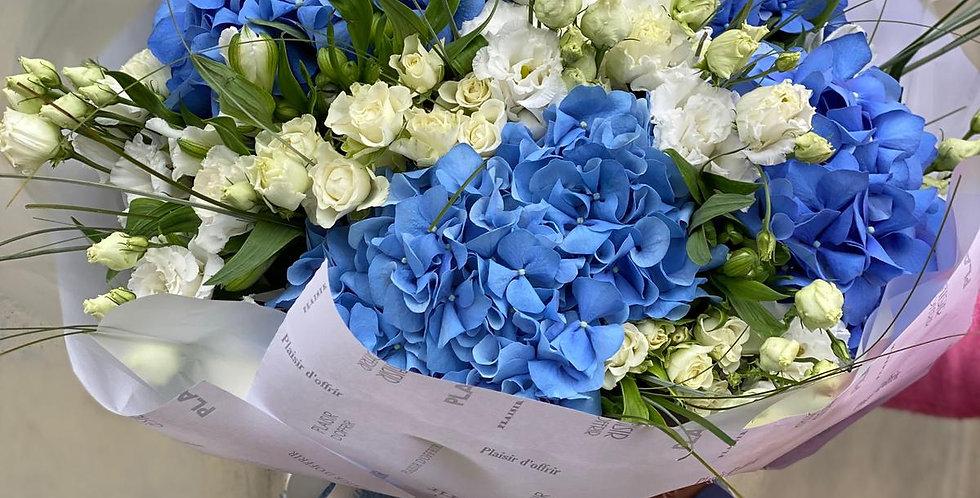 "Buket  ""Modra elegance"""