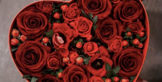 Krabice RED HEART s mixem květin
