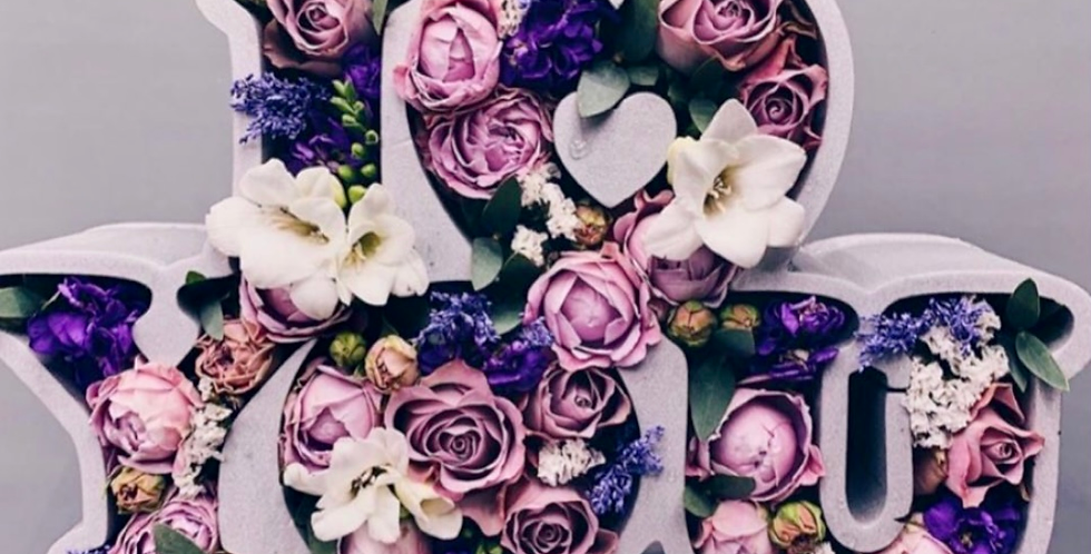 Box I LOVE YOU č.4 s mixem květin