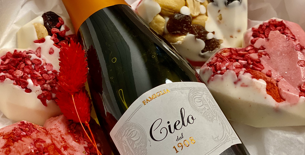 Dárkový box s červeným vínem a belgickou čokoládou