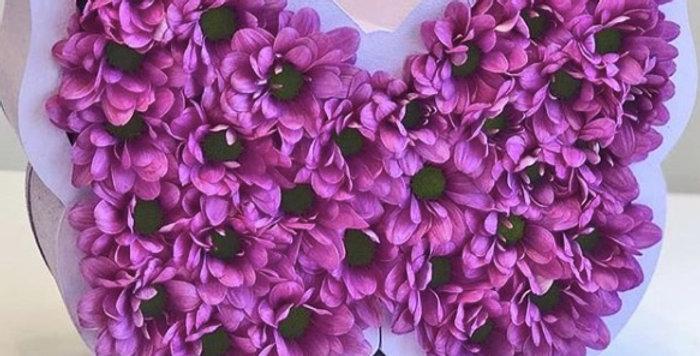 """Dárkový box """"Butterfly"""" s květinami"""