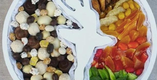 """Dárkový box """"Dancing queen"""" s ořechy a sušenými ovocemi"""