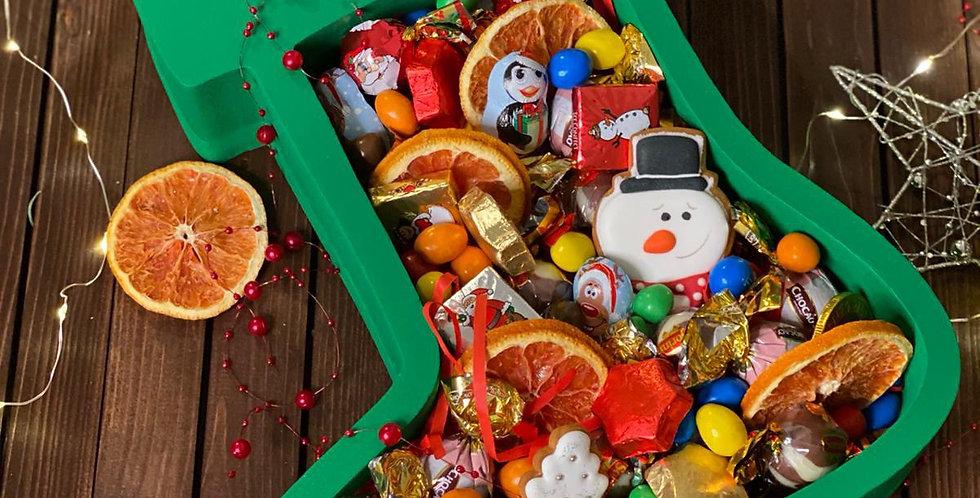 """Vánoční box """"Zelená ponožka"""""""