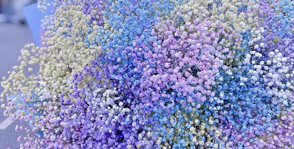 """Buket """"Vícebarevná gypsophila"""""""