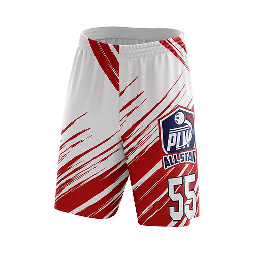 PLW RED ALL STAR SHORTS