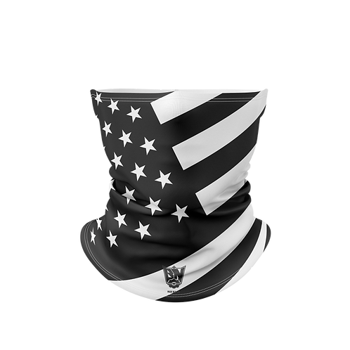 White and Black USA Flag