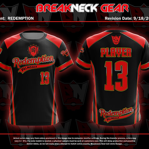 REDEMPTION BLACK,GOLD AND RED