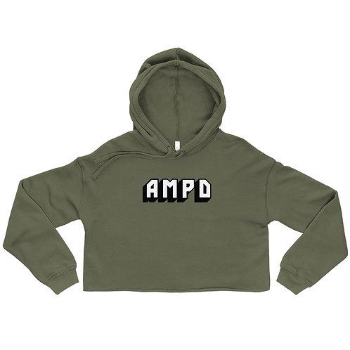 AMPD Essentials Crop Hoodie - Olive