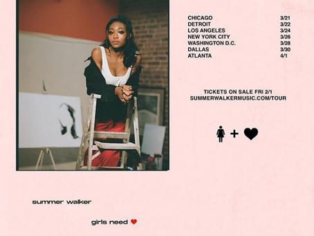 Summer Walker x Clear EP + Girls Need Love Tour