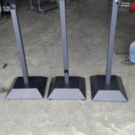 Custom built kiosk stands