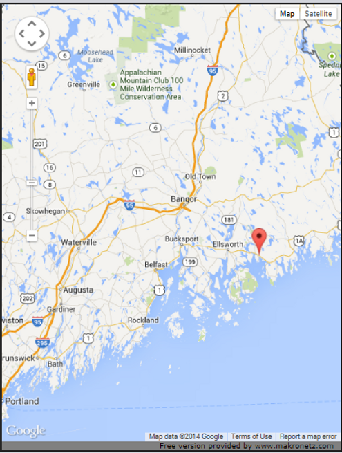 US Route Sullivan Maine New England Nova Scotia Maritime - Map of us route 1