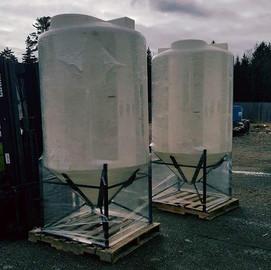 Modified cone bottom tanks