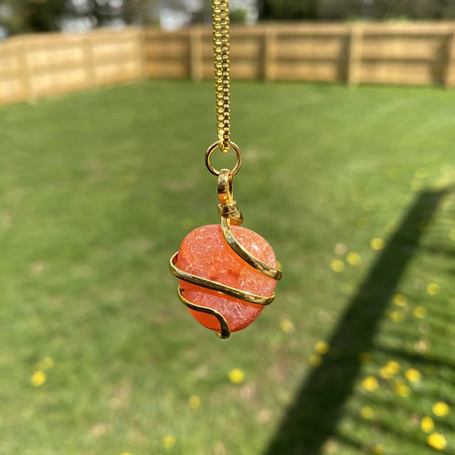 Red Wrapped Tumbled Crystals