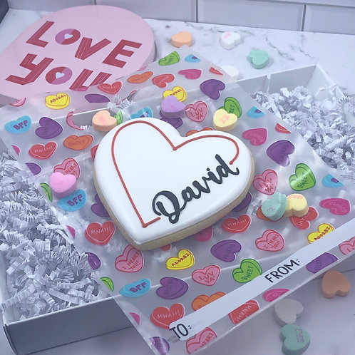 Personalized Heart- single cookie