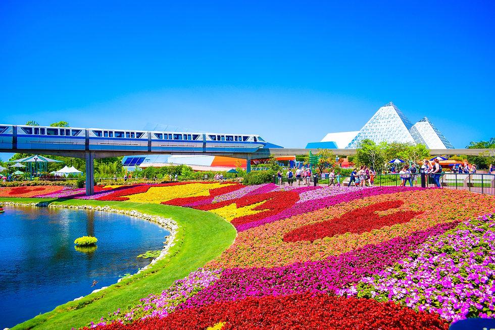 Monorail at Epcot Walt Disney World