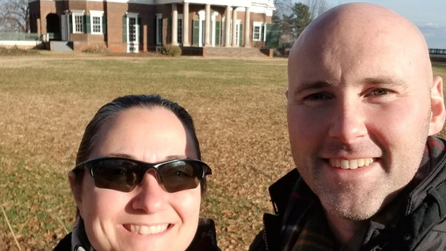 Mandy and Nathan Pullin at Monticello