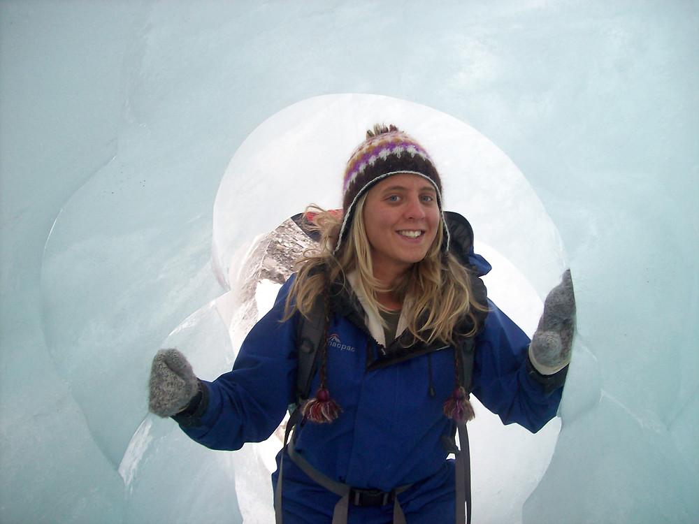 Marija on a Glacier