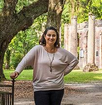 Mandy and Tiffany at Old Sheldon Church in South Carolina