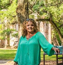 Tiffany at Old Sheldon Church in South Carolina