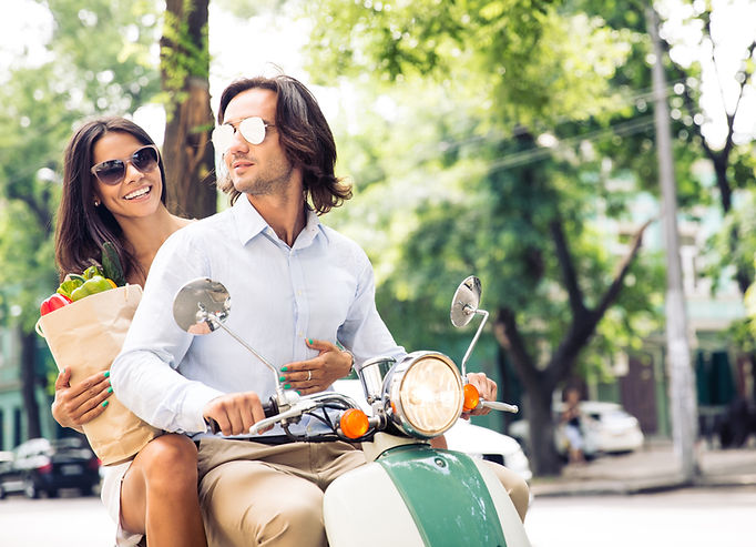 couples on motorcycles