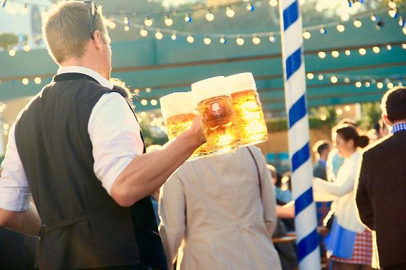 beer in large mugs