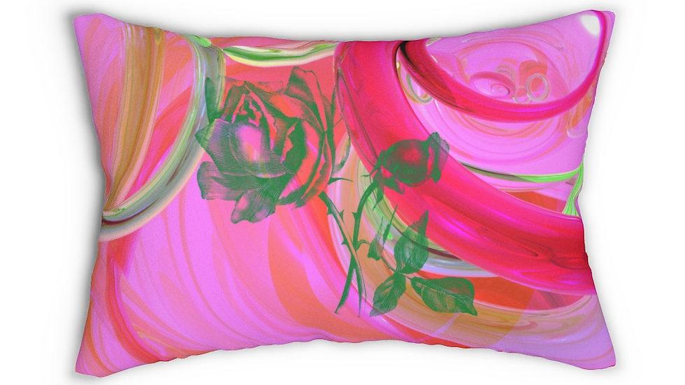 Rose Lumbar Pillow
