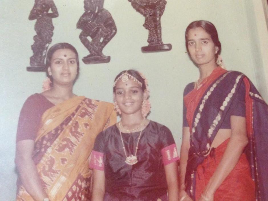 Anu with her gurus