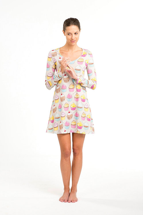 CUPCAKE NIGHTIE long sleeve