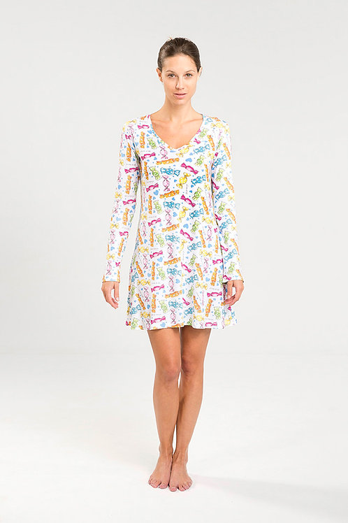 CANDY NIGHTIE long sleeve