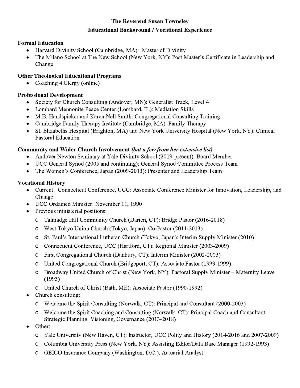 Educational new - Vocational summary - F