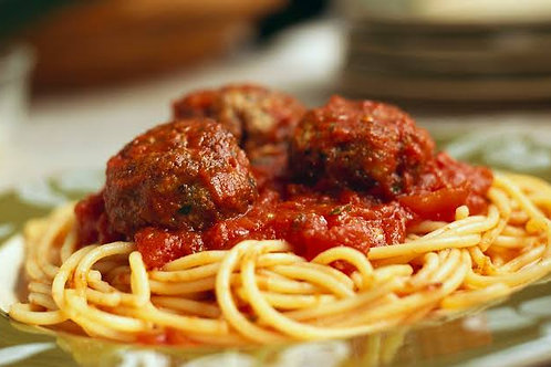 Wednesday Dinner - Spaghetti with Meatballs