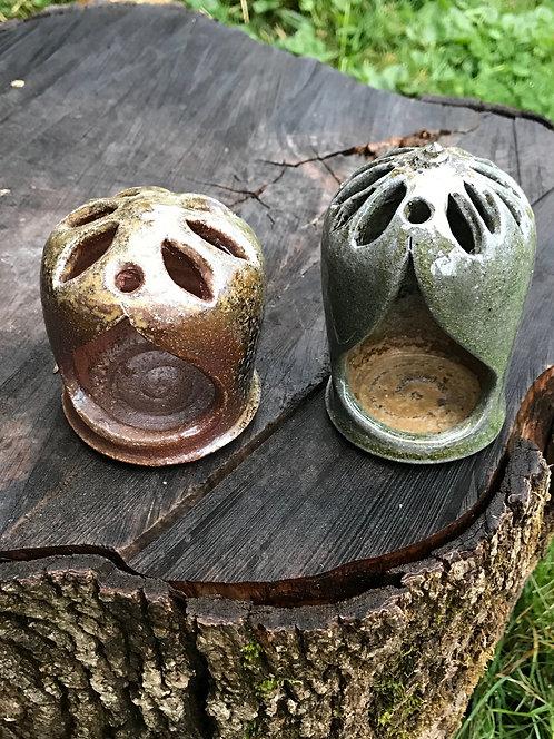 Candleholders, Wood/soda fired