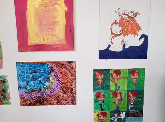 Artwork by Amber Stephens, Kyndra Fraser, and Patrick Hackleman