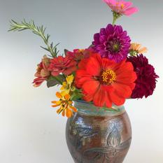 Ladyslipper and Heron - Vase