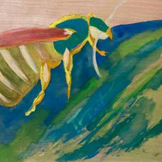 (2020) Tempera on birch panel 12 x 12 inches